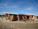 Étape de la construction de l'ossature bois