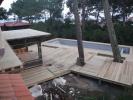 Entrelacs de terrasses en pin de qualité US dans deux largeurs différentes (90 et 150mm et épaisseur de 27mm conformément au DTU)