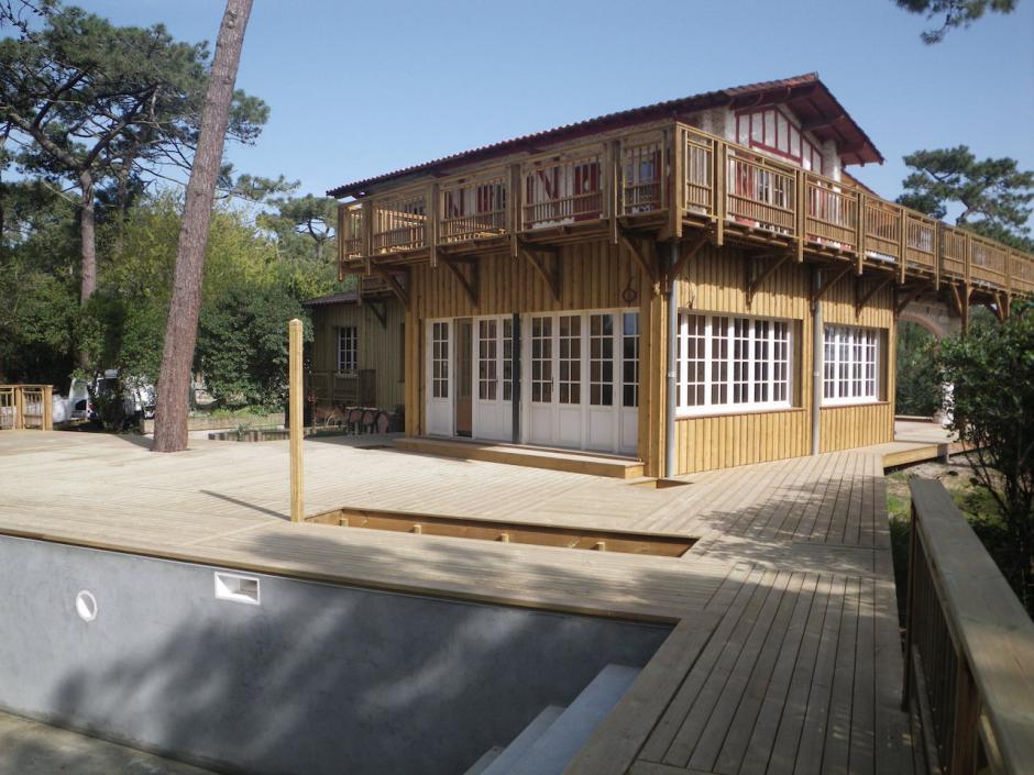 Extension bois d une maison au cap ferret avec tanch it - Tarif etancheite toit terrasse ...