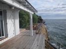 Terrasse en ipé achevée avec chemin d'accés aux deux « bains de soleil » et escalier bois