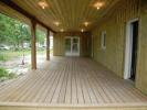 Terrasse en pin couverte de 44 m2