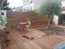 Habillage terrasse et mur en ipé