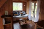 Chalet douglas et ipé, menuiseries en bois peint