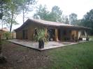 Maison bois de 128m2 avec bardage extérieur et intérieur en pin, avec terrasse