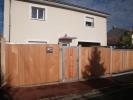 Création d'un portail bois en red cedar avec cadre en aluminium