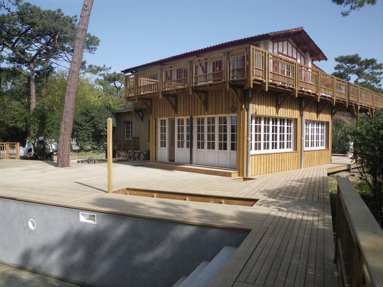 Extension Maison Terrasse Couverte extension bois d'une maison au cap ferret avec étanchéité
